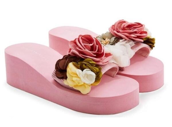 Дамски чехли с цветя EMANUELA BIFFOLI 37020