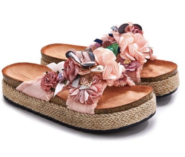Дамски чехли с цветя EMANULA BIFFOLI 370805