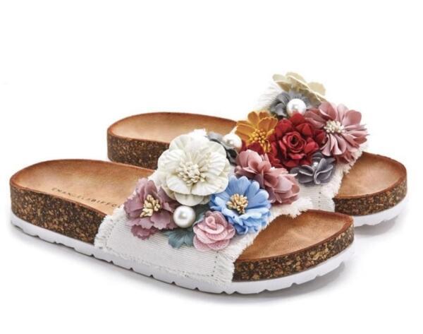 Дамски чехли с цветя EMANUELA BIFFOLI 370806
