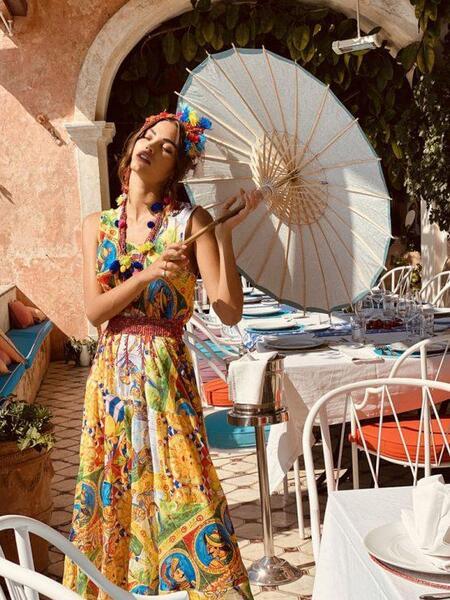 Дълга рокля без ръкави AV229 Moda di Napoli