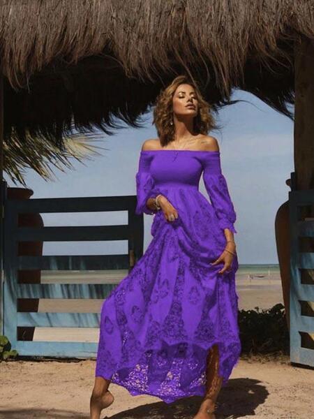Дълга рокля с голи рамене AW142 Moda di Napoli
