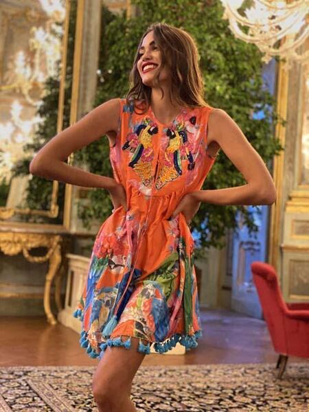 Къса рокля без ръкави AC139 Moda di Napoli