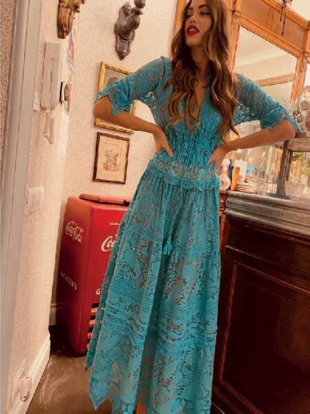 Дълга рокля AJ033 Moda di Napoli
