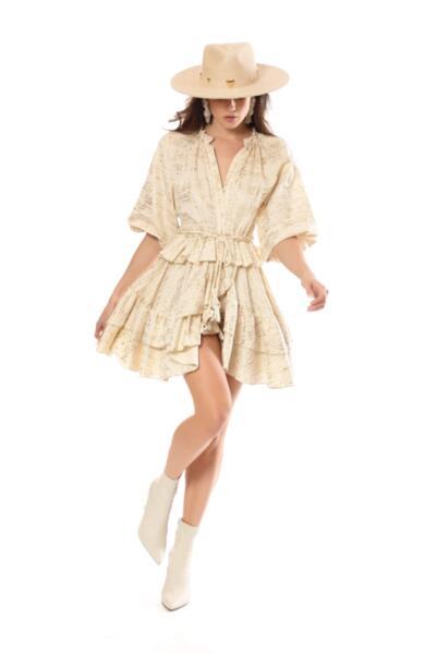 Къса рокля DESDEMONA 40028-VE Savage