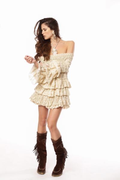 Къса рокля DESDEMONA 40034-VE Savage