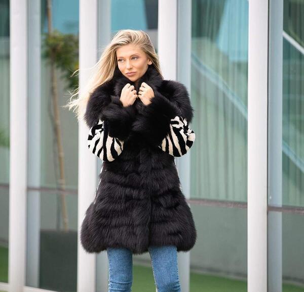 Дамско палто от лисица 40FOX MILIOS FURS