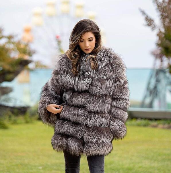 Дамско палто от лисица 38FOX MILIOS FURS