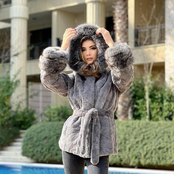 Дамско палто от бобър и лисица 76BEAVER MILIOS FURS