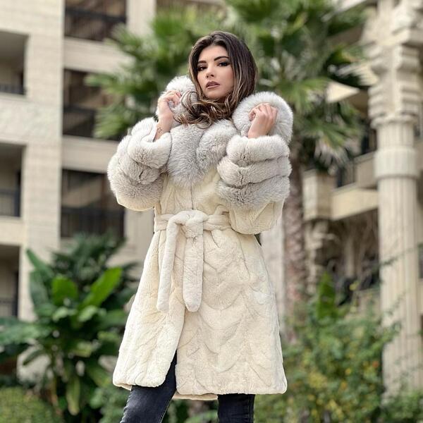 Дамско палто от бобър и лисица 77BEAVER MILIOS FURS