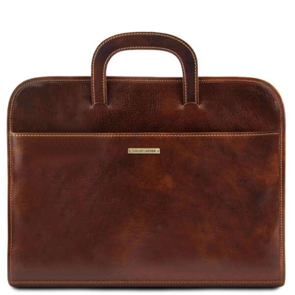 Италианска бизнес чанта за документи с едно отделение Sorrento TL141022