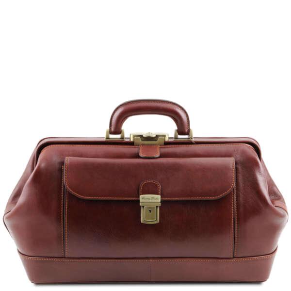 Лекарска чанта от естествена кожа Bernini TL141298