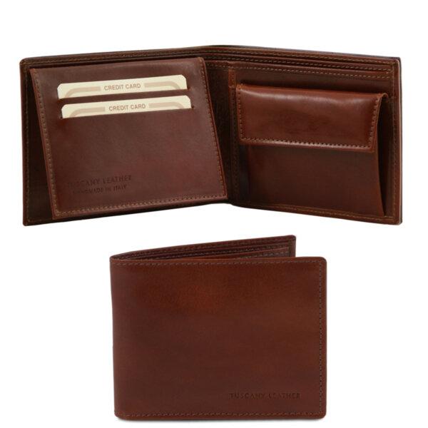 Кожен мъжки портфейл TL140763