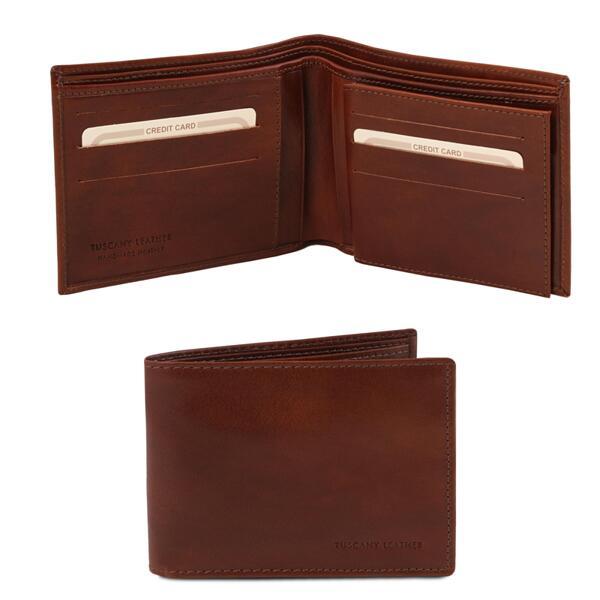 Мъжки портфейл от естествена кожа TL140817