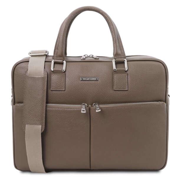 Кожено куфарче за лаптоп от естествена кожа TREVISO TL141986