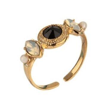 Нежен пръстен с кристали SATELLITE PARIS FUJ71