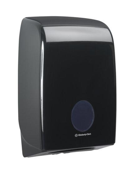 7171 AQUARIUS дозатор черен кърпи за ръце пачка/тесен
