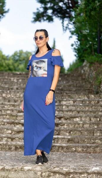 Прекрасна дълга рокля Анна