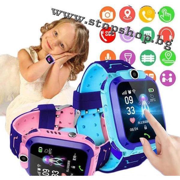 04.Смарт часовник за деца с GPS tracker за проследяване в два цвята
