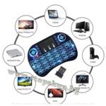 в6.Безжична мини клавиатура i8 СВЕТЕЩА с Li-Ion Батерия