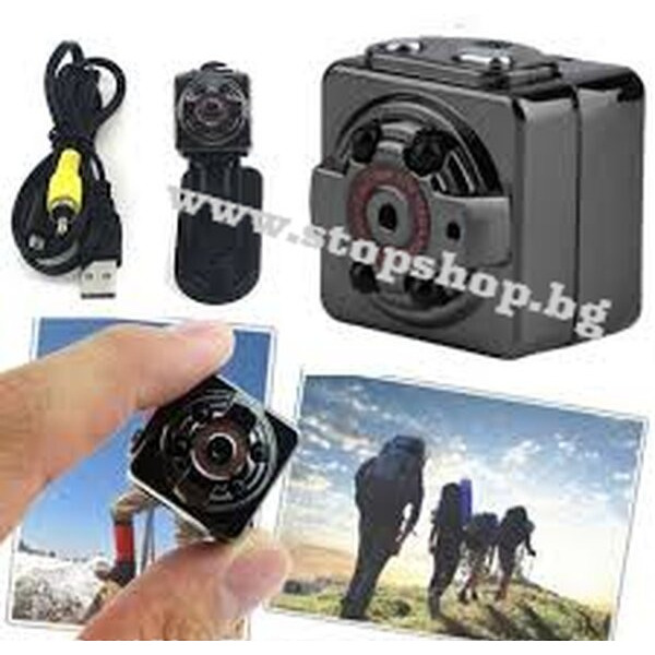 36.Мини Шпионска камера iUni SQ11и Sq10 Full HD 1080p, Гласов-Видео, Нощно виждане, TV-Out, Черен