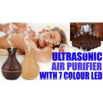 37.Ултразвуков арома дифузер с етерични масла и овлажнител на въздух Vova, USB,130ml