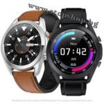 Смарт часовник Lemfo G33, HD дисплей, Крачкомер, Смарт известия Кафява или черна каишка кожени.