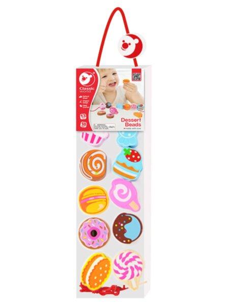 Дървена играчка за нанизване - Сладкиши