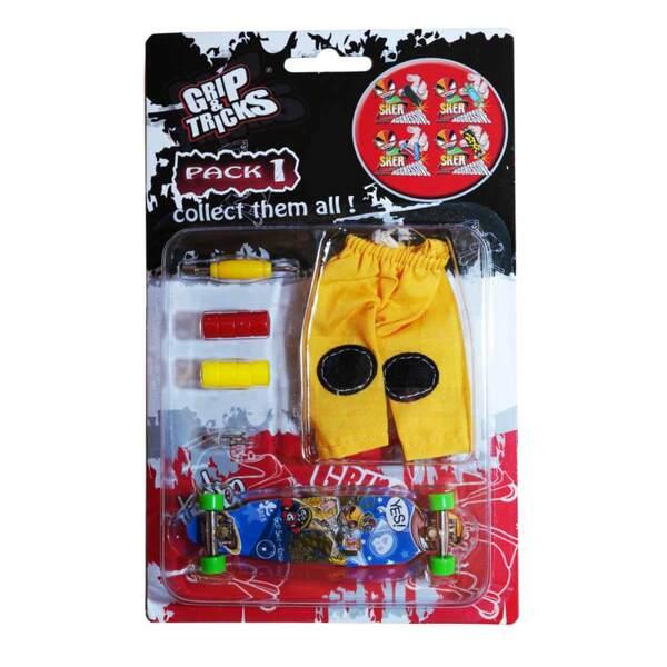 Комплект играчка за пръсти LONG BOARD, син