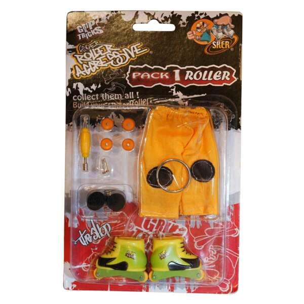 Играчка за пръсти Ролери, жълти/зелени