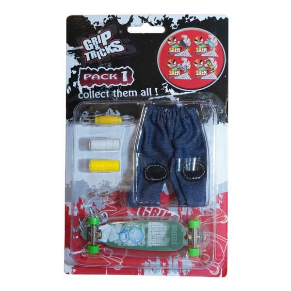 Комплект играчка за пръсти LONG BOARD, тюркоаз, с емоджи