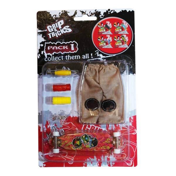 Комплект играчка за пръсти LONG BOARD, червен, с емоджи