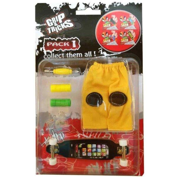 Комплект играчка за пръсти LONG BOARD, черен, с екран
