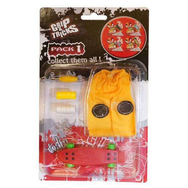 Комплект играчка за пръсти PENNY BOARD, червен