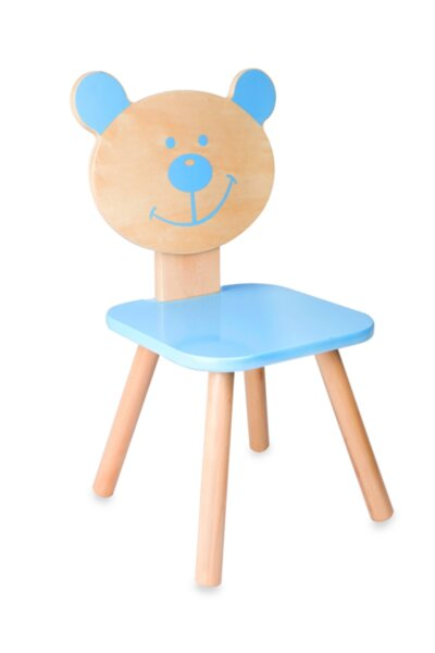 Дървено столче - мече