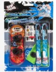 Комплект играчки за пръсти Сноуборд и Ски, червен и син