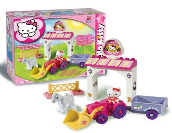 Конструктор за деца - мини ферма, Hello Kitty, Unico