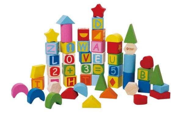 Образователни дървени блокчета - 56 части