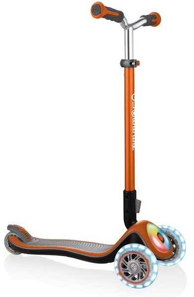 Тротинетка Elite Prime със светещи колела - Оранжева