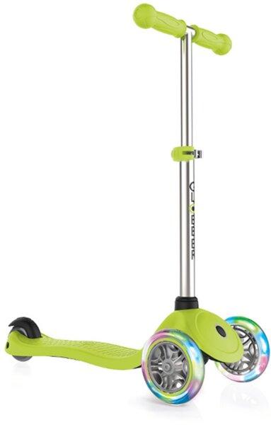 Тротинетка за деца Primo Lights със светещи гуми и регулируема височина Светло зелена