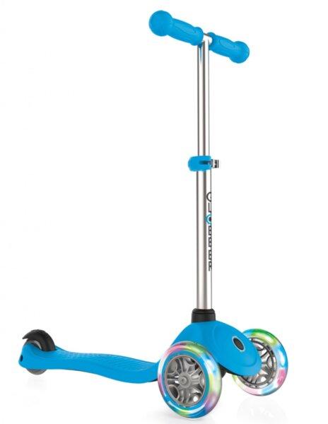 Тротинетка за деца Primo Lights със светещи гуми и регулируема височина Светло синя