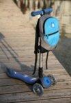 Раница за тротинетка и колело - Светло синя