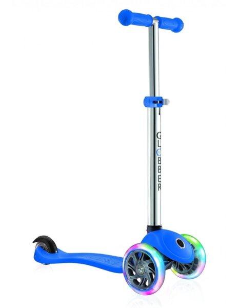Тротинетка за деца Primo Lights със светещи гуми и регулируема височина Синя