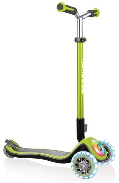Тротинетка Elite Prime със светещи колела Зелена