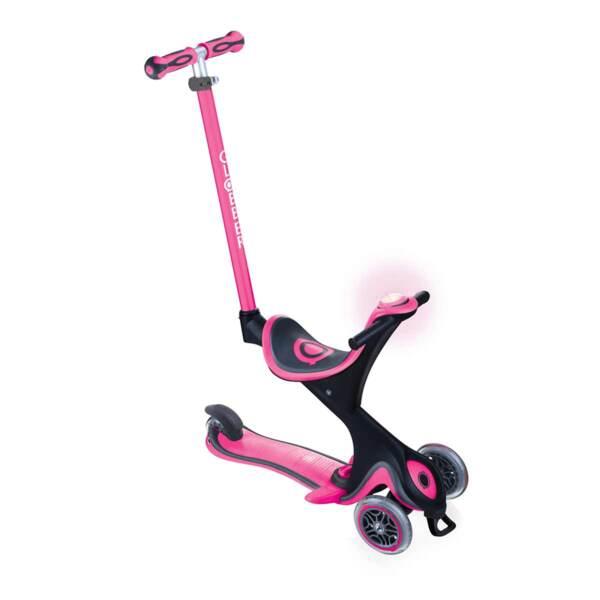 Тротинетка с родителски контрол 5 в 1 Globber Go Up Comfort Play - розова