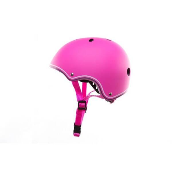 Цветна каска за колело и тротинетка, 51-54 см - Розова