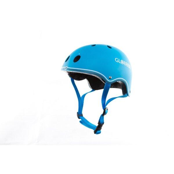 Цветна каска за колело и тротинетка, 51-54 см Светло синя
