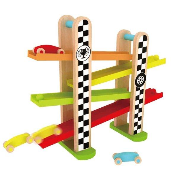 Детска дървена състезателна писта
