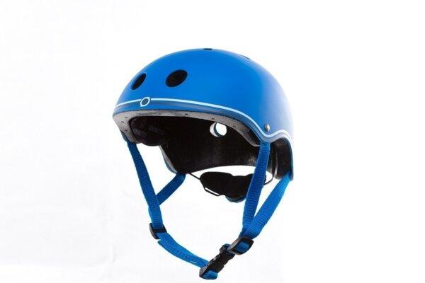Цветна каска за колело и тротинетка, 51-54 см Синя