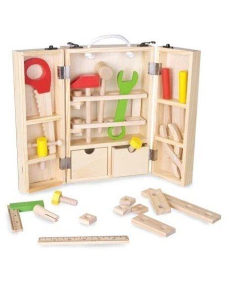 Дърводелски комплект с инструменти за деца