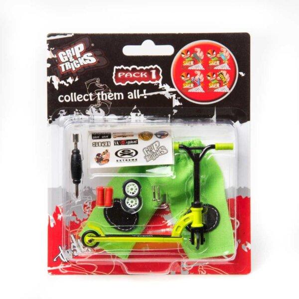 Играчка за пръсти Скутер, зелен